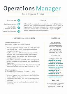 National Operations Manager Resume Operations Manager Resume Example Amp Writing Tips Rg