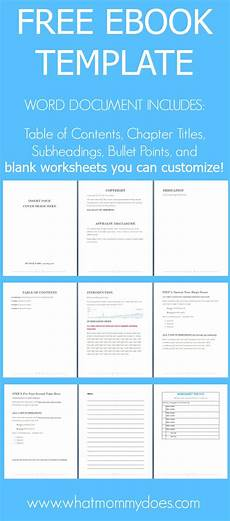 Microsoft Word Web Template Free Ebook Template Preformatted Word Document What