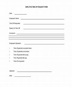 Employee Time Off Request Form Free 7 Sample Employee Forms In Pdf Word