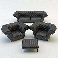 Black Sofa Chair 3d Image by Leather Sofa Chair 3d Model