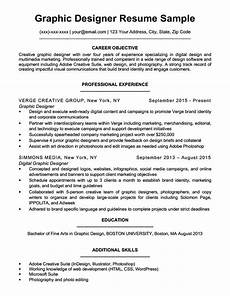 Cv Sample For Graphic Designer Graphic Design Resume Sample Amp Writing Tips Resume Companion