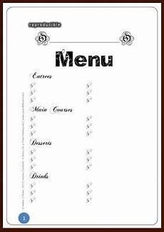 Blank Menus 6 Best Images Of Printable Blank Restaurant Menus Free
