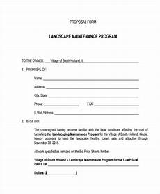 Free Landscaping Contract Forms Free 38 Sample Blank Proposal Forms In Pdf Excel Ms Word