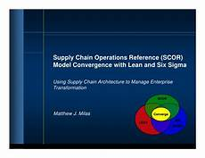 Scor Model Scor Model Convergence With Lean Amp Six Sigma