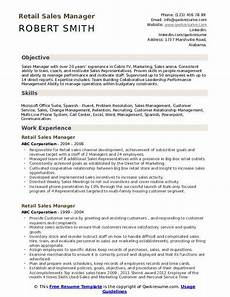 Retail Sales Manager Resume Samples Retail Sales Manager Resume Samples Qwikresume