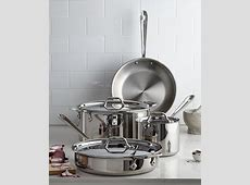 All Clad Stainless Steel 7 Pc. Cookware Set, Only at Macy