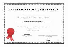 Generic Certificate Of Completion Generic Certificate Of Completion Template Pdf