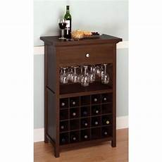 winsome wood wine cabinet with drawer and glass rack