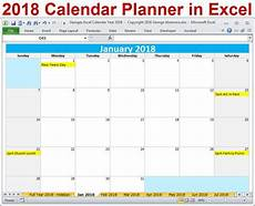 Excel Template Calendar 2018 Calendar Year Printable Excel Template 2018 Monthly