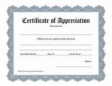 Free Certificates Of Appreciation Templates Free Printable Certificate Of Appreciation Templates
