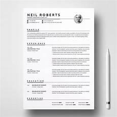 Clean Resume Template Word Clean Resume Template Word Cv Creative Resume