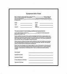 equipment receipt form template equipment bill of sale 7 free word excel pdf format