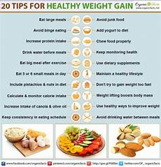 How To Gain Weight By Food Chart 20 Methods For Healthy Weight Gain Organic Facts