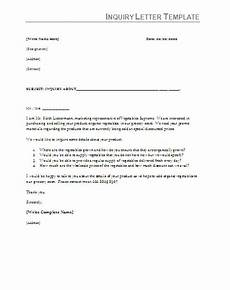 Inquiry Letter Template Inquiry Letter Samples 5 Free Printable Ms Word Templates