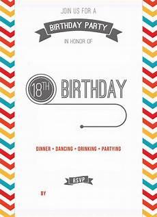 Free Printable Invitation Maker Free Printable 18th Birthday Invitation Template