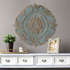 home decor wall stratton home decor blue european medallion wall decor