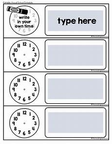 Make Your Own School Schedule Visual School Schedule Free This Reading Mama