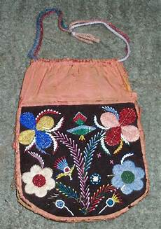 vintage antique 1870 s cree beaded indian bag pouch ebay