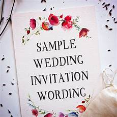 Invite To A Party Wording 15 Wedding Invitation Wording Samples From Traditional To Fun