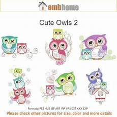 owls 2 baby machine embroidery designs instant