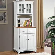 white wood microwave cart kitchen storage cabinet