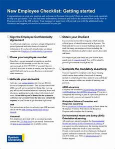 Sample New Hire Orientation Checklist 12 New Employers Checklist Samples Amp Templates In Pdf