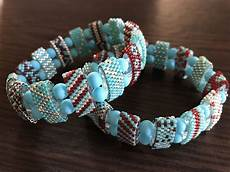 two bracelets with carrier bracelet patterns