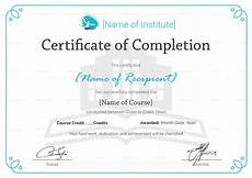 Certificate Of Successful Completion Training Completion Certificate Design Template In Psd Word