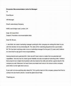 Letter Of Recommendation For Promotion 14 Promotion Recommendation Letters Free Amp Premium