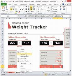 Weight Loss Tracker Excel Free Group Weight Tracker Template For Excel