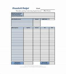 Simple Family Budget Household Budget Templates 6 Free Printable Word Excel