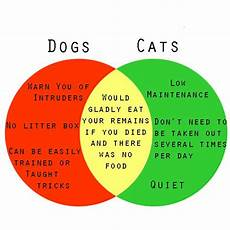 Compare And Contrast Essay Cats And Dogs A Venn Diagram To Help You Decide If You Should Get A Dog
