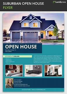 Real Estate Open House Flyers Suburban Open House Flyer Template Open House Real