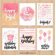 Aquarell Malvorlagen Happy Birthday Collection Of Abstract Watercolor Birthday Card Vector