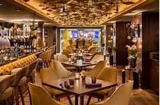 the stunning interior design of the luxury restaurant