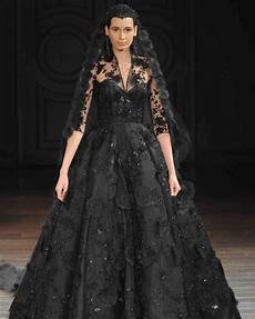 chic black wedding dress for the edgy martha
