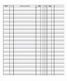 Ledger Template Free 4 Ledger Paper Templates Free Samples Examples Format
