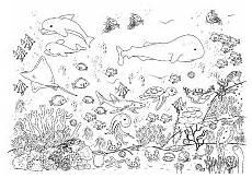Ausmalbilder Fische Meer Fische Im Meer Mit Korallen Ausmalen Ausmalbilder