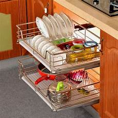 shelf cabinet sliding drawer organizer metal pull out