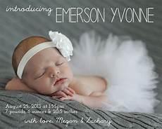 Birth Announcment Make Bake And Love Emerson S Birth Announcement