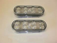 6 Oval Led Lights Two Maxxima 6 Inch Oval Led Clear White Back Up Light