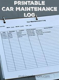 Vehicle Service Log Diy Car Maintenance Car Maintenance Log
