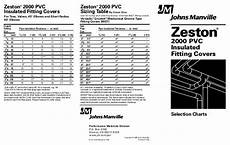 Zeston Pvc Fitting Chart Jm Zeston 2000 Pvc Insulated Fitting Covers Cl Weber Amp Co