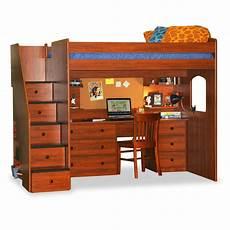 berg utica loft bed with storage reviews wayfair