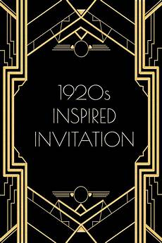 1920s Invitation Template Free Use This 1920s Inspired Invitation Template For A Gatsby