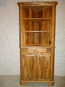 custom made apple wood corner cabinet by galusha tiles and
