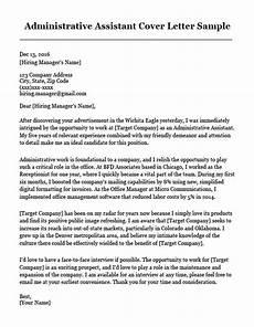 Cover Letter Sample For Program Assistant Administrative Assistant Cover Letter Sample Resume