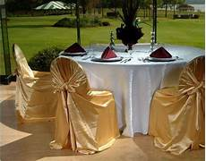 gold chair covers with white table cloths indian