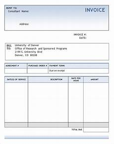Free Invoice Word Template Consulting Invoice Template 7 Free Download For Word Pdf