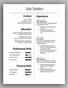 Simple Cv Formats Simple Yet Elegant Cv Template To Get The Job Done Free